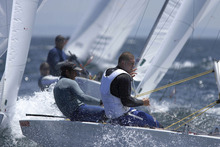 Hamish Pepper and Jim Turner are the best placed Kiwi crew after six rounds of racing at the ISAF World Cup sailing regatta for Olympic classes in Palma, Spain. Photo / File.
