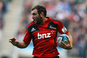 George Whitelock of the Crusaders in action during the round six Super Rugby match between the Crusaders and the Sharks. Photo / Getty Images