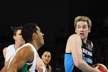Dillon Boucher of the Breakers takes the ball to the line during game three of the NBL Finals. Photo / Getty Images 