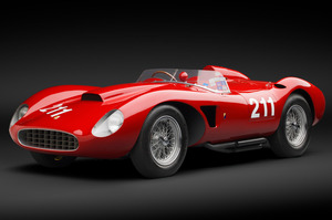 This beautiful 1957 Ferrari 625 Spider will be auctioned in May. Photo / Ron Kimball, Kimballstock.com