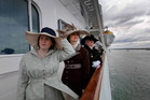 The sense of duty to help the vulnerable, evident on the Titanic, has jumped ship. Passengers wearing period costumes look out from the Balmoral as it sails from Southampton, England, on its Titanic memorial cruise. Photo / AP