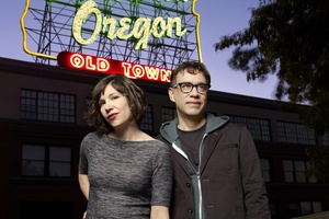 HEROES: Fred Armisen and Carrie Brownstein play all the characters in Portlandia's, a satirical comedy which pokes fun at Portland's alternative subculture. Photo / Chris Hornbecker