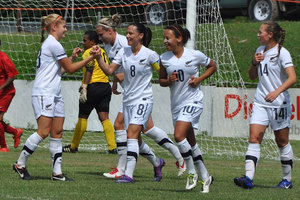 The young Football Ferns have started their U-17 OFC Championships off well with a 7-0 win over the Cook Islands. Photo / OFC Media.