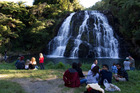 The waterfall at Waitawheta Rd in the Waikino Gorge near Waihi is an idyllic spot. Photo / Brett Phibbs