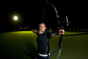 Budding archer Rachel Burge reckons the sport she has always loved is underrated in New Zealand. Photo / Steven McNicholl