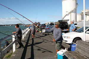 Avei Makaneti sends out another cast. Photo / Geoff Thomas