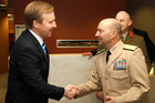 Defence Minister Jonathan Coleman (left) with Admiral James Stavridis, who praised the work of New Zealand's SAS. Photo / Mark Mitchell