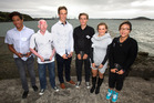 Future Stars of Sport winners Joshua Hawkins (from left) Daniel Holt, Adam Smith, Hayden McCormick, Paige Paterson and Lydia Ko. Photo / Steven McNicholl