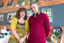 Linda and Mike Geers have now owned their Devonport Gallery, Art by the Sea, for 10 years.  Photo / Paul Estcourt