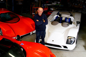 Bruce Turnbull , inventor of the Saker sports car. Photo / Gary Rodgers