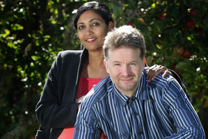 Robbie Price and his wife Roshni Kanta. Photo / Alan Gibson