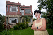 Munjula Andrews at her Mount Eden castle. Photo / Chris Loufte