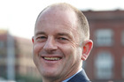 Labour's David Shearer with newly shaven head. Photo / Mark Mitchell
