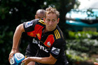 Andrew Horrell in action during a Chiefs' training session. Photo / Christine Cornege