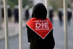 A Bahraini anti-government proteste. Photo / AP