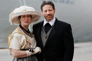 Mary Beth Crocker Dearing, her husband Tom Dearing and 1307 others will experience shipboard life including meals and music as it would have been aboard the Titanic in 1912. Photo / AP