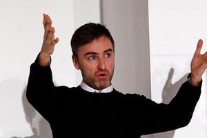 Belgian designer Raf Simons has taken over from John Galliano at Dior. Photo / AP