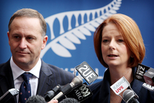 Australia's business leaders wish their Prime Minister, Julia Gillard, was more like John Key when it comes to introducing business-friendly policies. Photo / Greg Bowker