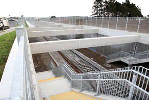 Construction at the rail stop in central Manukau. Photo / Greg Bowker