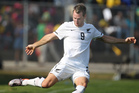 All Whites striker Shane Smeltz.  Photo / Brett Phibbs