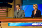 Programmes such as One News, presented by Simon Dallow and Wendy Petrie, are a big part of TVNZ's future, says chairman Sir John Anderson. Photo / Supplied