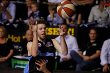 Breakers player Tom Abercrombie may recover from a strained ankle to reach the finals match. Photo / Sarah Ivey