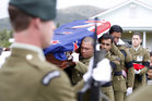 Corporal Douglas Hughes was buried at the Northland settlement of Pakotai today. Photo / Northern Advocate