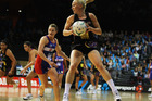 Laura Langman of the Magic secures possesion during the round two ANZ Championship match between the Waikato BOP Magic and Northern Mystics. Photo / Getty Images.