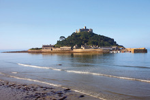 St Michael's Mount in Cornwall, originally a coastal hill, now lies nearly 400m offshore from the village of Marazion. Photo / Supplied