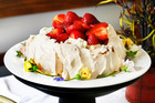 Peter Gordon's mother, Timmy's, famous pavlova. Photo / Steven McNicholl