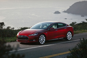 Tesla's model S. Photo / Supplied