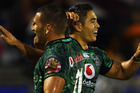 Lewis Brown and Shaun Johnson. Photo / Getty Images.