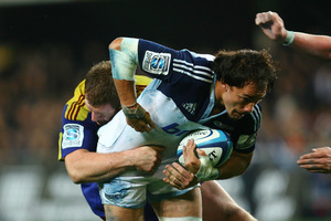 Chris Lowrey is expected to leave the Blues for a Japanese club at the end of this season. Photo / Getty Images