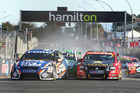 The start of race one of round three of the V8 Supercar Championship Series at the Hamilton Street Circuit. Photo / Getty Images