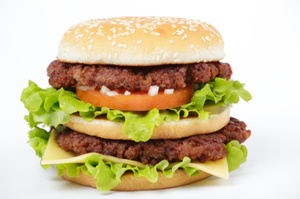This burger will have 30 percent more sodium than its counterpart in France or the UK - despite being produced by the same company. Photo / Thinkstock