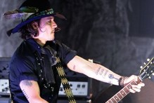 Johnny Depp performed on stage with Marilyn Manson during the 2012 Revolver Golden Gods Award Show. Photo / AFP