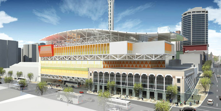 An artist's impression of the proposed 3500-seat convention centre for Auckland. Photo / Supplied