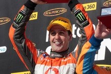 THIS TIME: Supercar champion Jamie Whincup wants his final experience of Hamilton to be a win. Photo / Mark Horsburgh