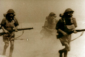 An image of troops of the NZ 24 Battalion in North Africa.