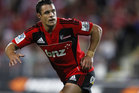 Dan Carter will play his 100th Super Rugby match for the Crusaders tonight against the Hurricanes. Photo / Getty Images.