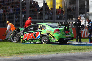 Greg Murphy hurt his back in the opening round of the V8 series in Adelaide. Photo / Getty Images