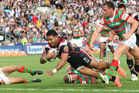 Krisnan Inu celebrated his return to the Warriors with a try. Photo / Greg Bowker