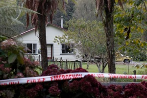 The property in the small Taranaki settlement of  Uenui where a woman was shot.  Photo / Rob Tucker