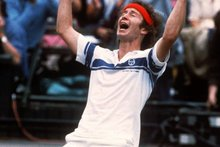 John McEnroe let the racquet do the talking - well, not all the time. Photo / AP