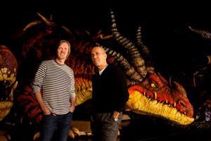 Shrek's Andrew Adamson and Jeffrey Katzenberg. Photo / Chris Loufte