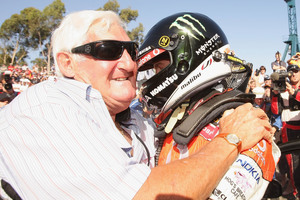 Jamie Whincup with his late father David. Photo / Getty Images