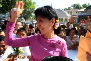 Aung San Suu Kyi.  Photo / AP