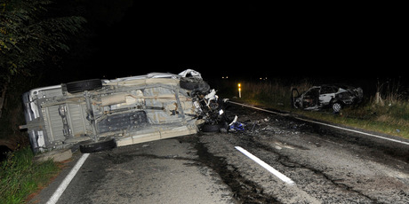 Accident site on SH2, north of Te Karaka. Photo / Gisborne Herald