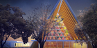 View: Christchurch's cardboard cathedral