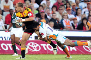 Craig Clarke of the Chiefs during last night's clash against the Cheetahs in Bloemfontein. Photo / Getty Images